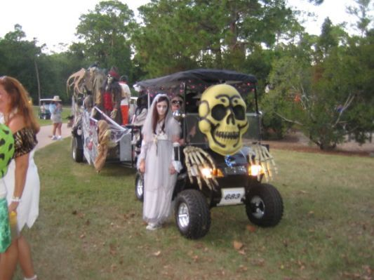 halloween golf cart parade the
