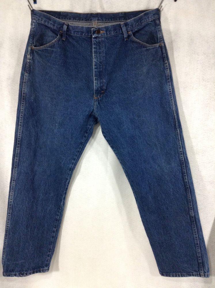 6b1b9abc Mens Wrangler 42x30 Rustler Regular Fit Straight Leg Jeans Blue Denim  87619PW #Wrangler #Classic #westernfashion #westernwear #menswesternwear  #bigandtall ...