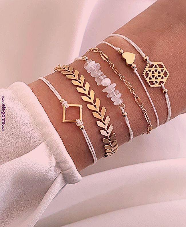 Unglaublich tolle Armbandkombination   Schmuck im Jahr 2018   Pinterest   Armband...,  #Armba...