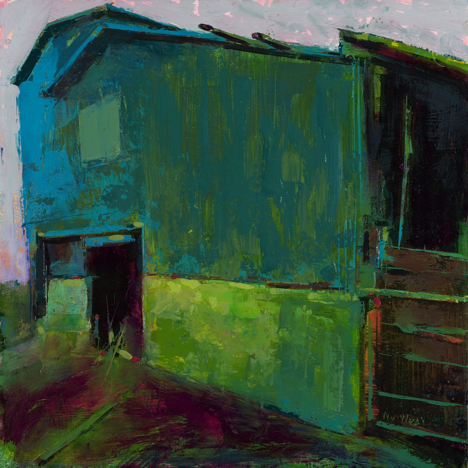 Absolutely Love The Saturated Colours In This One Landscape Art Art Painting Artist Inspiration