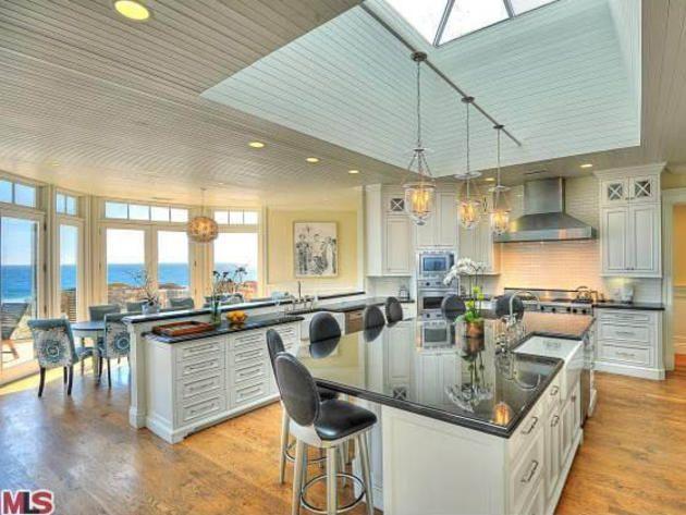 kitchen waterfront malibu beach house where usher and pdiddy vacationed http - Beach House Kitchen Ideas