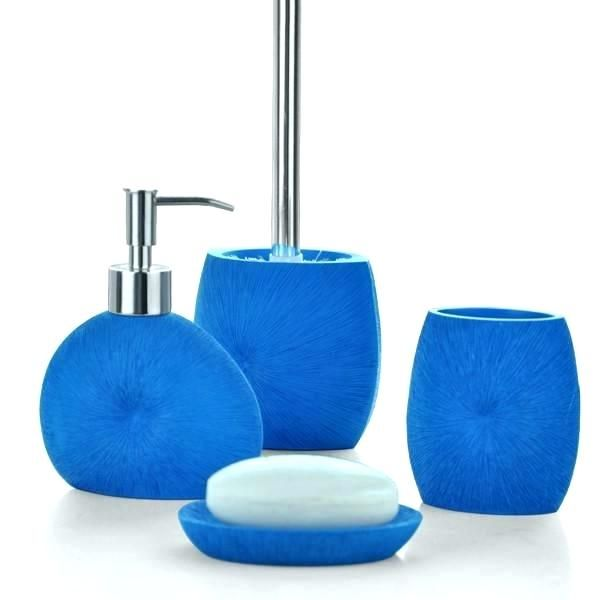 Royal Blue Bathroom Decor Navy Sets Color Bath Accessories Set 4 Piece