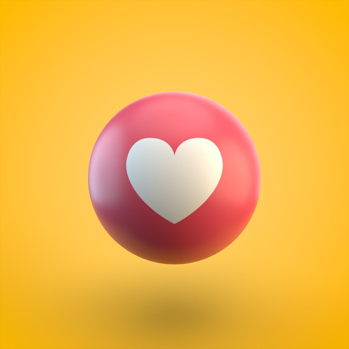 Ahmed Rabie On Behance Facebook Reaction 3d Emoji C4d Arnold Render Like Love Care Haha Wow Vector Art Design Digital Art Photography Emoji Images