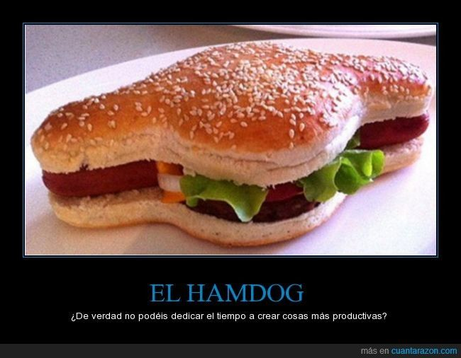 ¿Revolución en la comida rápida? Un australiano crea el 'Hamdog', un mix entre perrito y hamburguesa - ¿De verdad no podéis dedicar el tiempo a crear cosas más productivas?   Gracias a http://www.cuantarazon.com/   Si quieres leer la noticia completa visita: http://www.estoy-aburrido.com/revolucion-en-la-comida-rapida-un-australiano-crea-el-hamdog-un-mix-entre-perrito-y-hamburguesa-de-verdad-no-podeis-dedicar-el-tiempo-a-crear-cosas-mas-productivas/