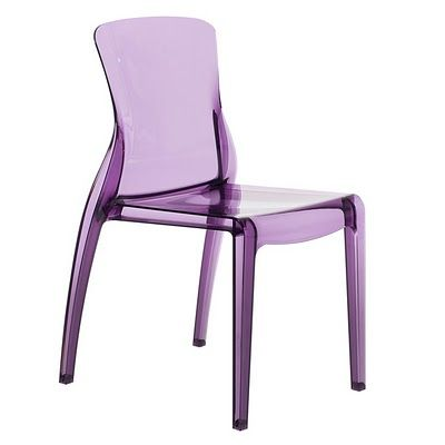 crystal dining chair in amethyst it s like hard chair version if the