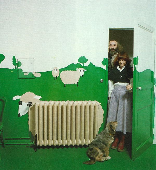 Sheep radiator from Conran's THE BED AND BATH BOOK 1978