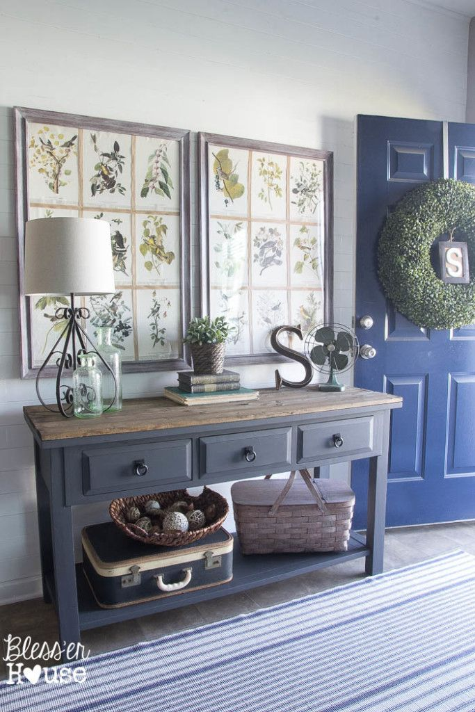 Modern Farmhouse Foyer Makeover Entryway Cabinet