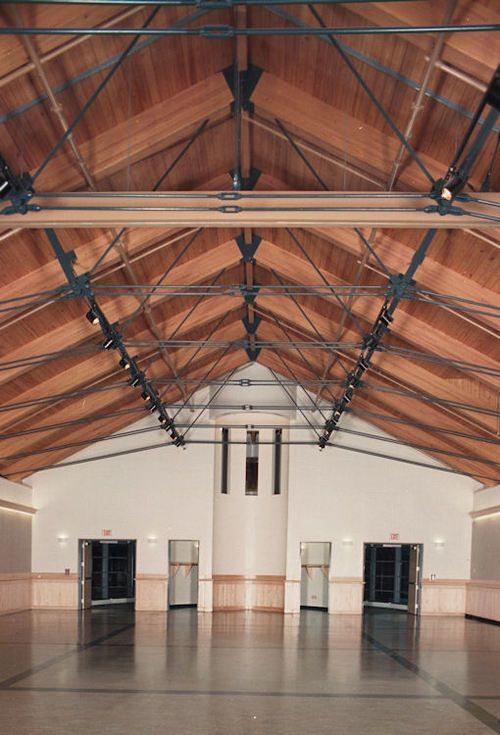 Tie Rod Trusses Timber Architecture Roof Design Wood Roof Structure
