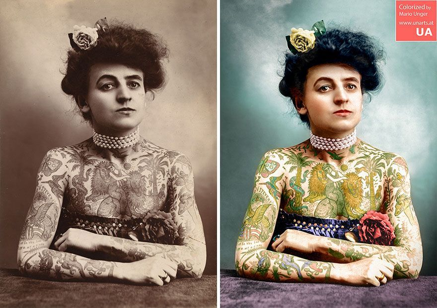 colorized photos breathe new life into famous faces from history is part of Female tattoo artists - Colorized Photos Breathe New Life Into Famous Faces From History Digitalart People