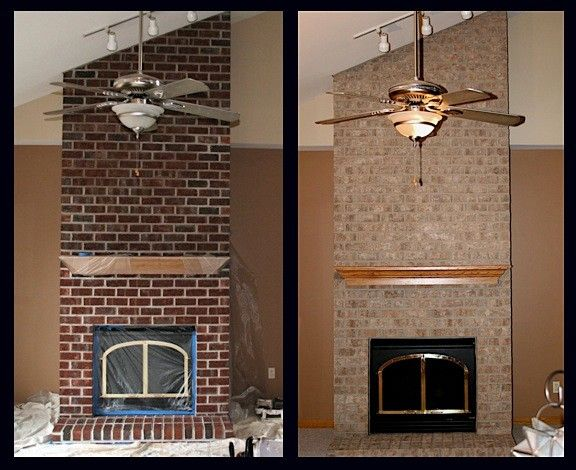How To Stain Brick Fireplace | home ideas | Pinterest | Stained ...