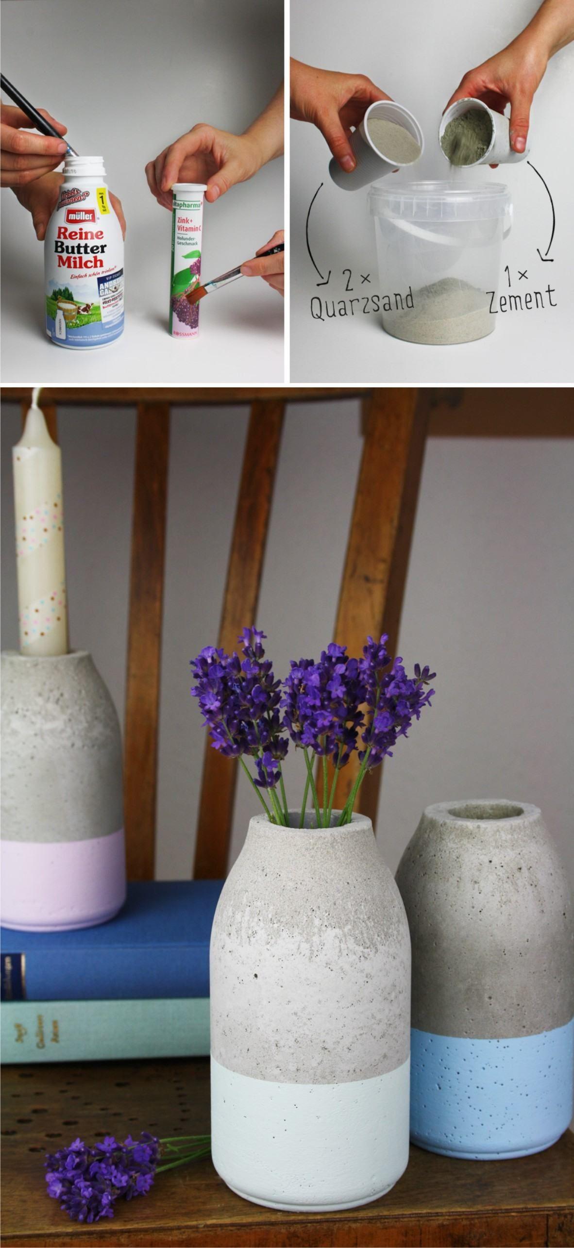 Beton Vasen Selber Machen florero diy de hormigón beton diy diy und selbermachen und diy beton