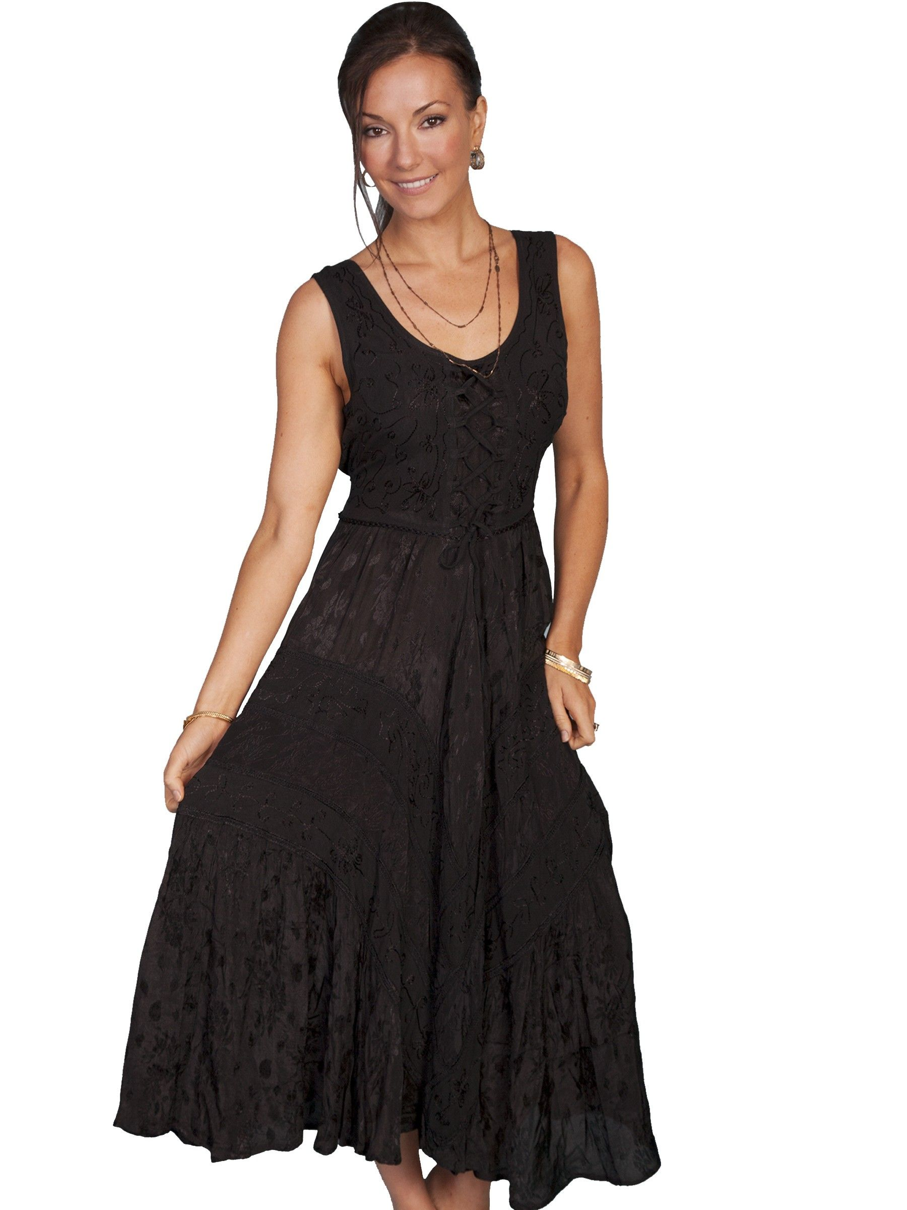 Leather wedding dress  Joeyus Canteen Cowgirl Dress in Black  New Arrivals  Pinterest