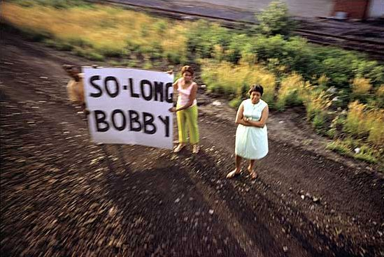 "RFK Funeral Train ""So Long Bobby"" photographs by Paul Fusco"
