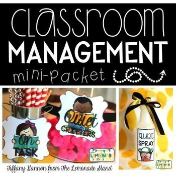 Classroom Management Mini-Packet #quietcritters Do your students need some extra motivation and positive reinforcement? I have some simple ideas to enhance your classroom management game! ************************************************************ This FUN FREEBIE includes: -Quiet Critter canister #quietcritters