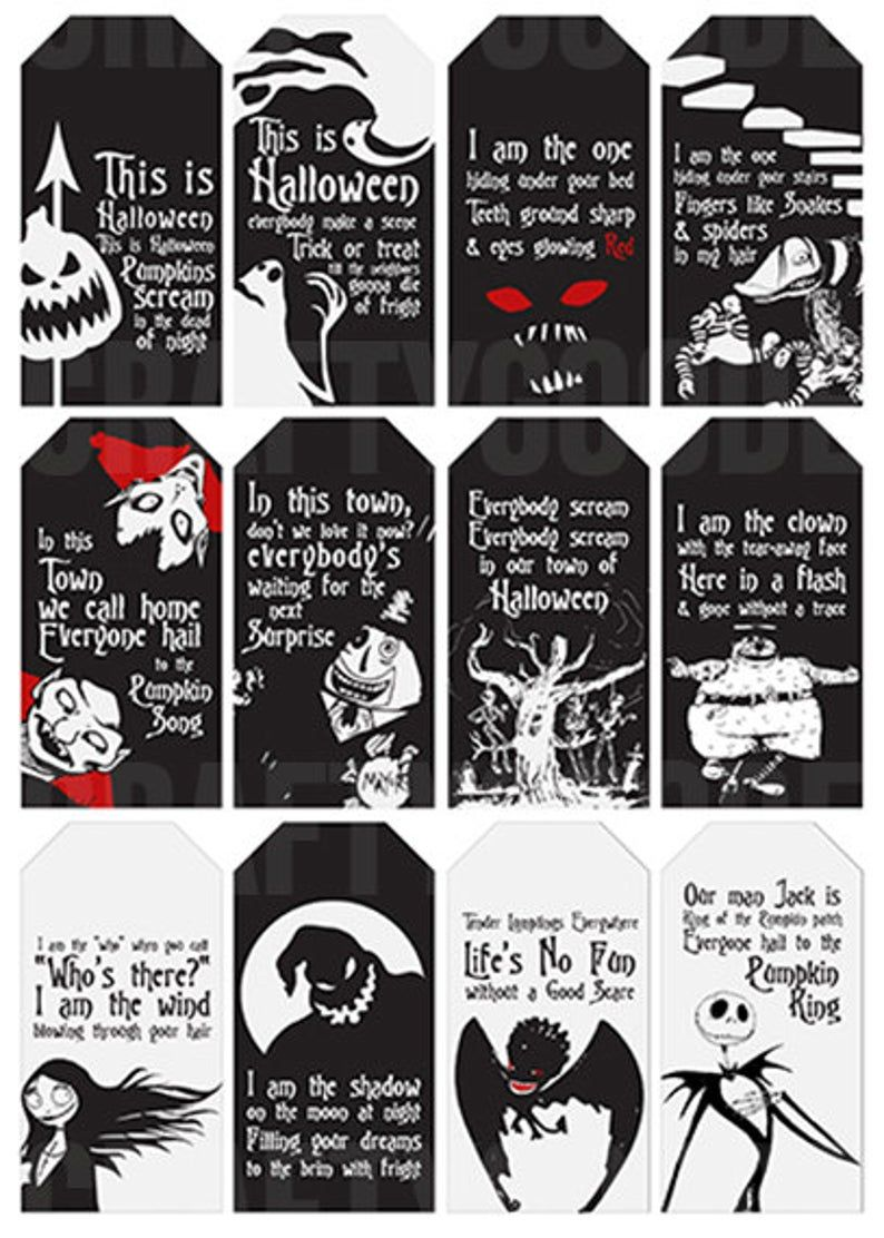 This is Halloween  The Nightmare before Christmas Gift Tags  | Etsy