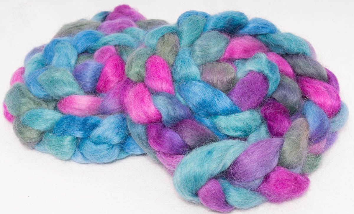 Hand dyed spinning wool, Masham, wool top, hand painted ...