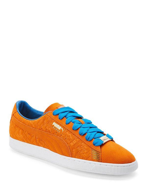 Orange & Blue Suede Classic New York Knicks Sneakers | Men's