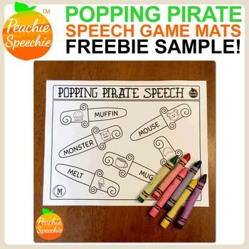 Popping Pirate Speech {FREE /m/ SAMPLE} Pirate Themed Speech