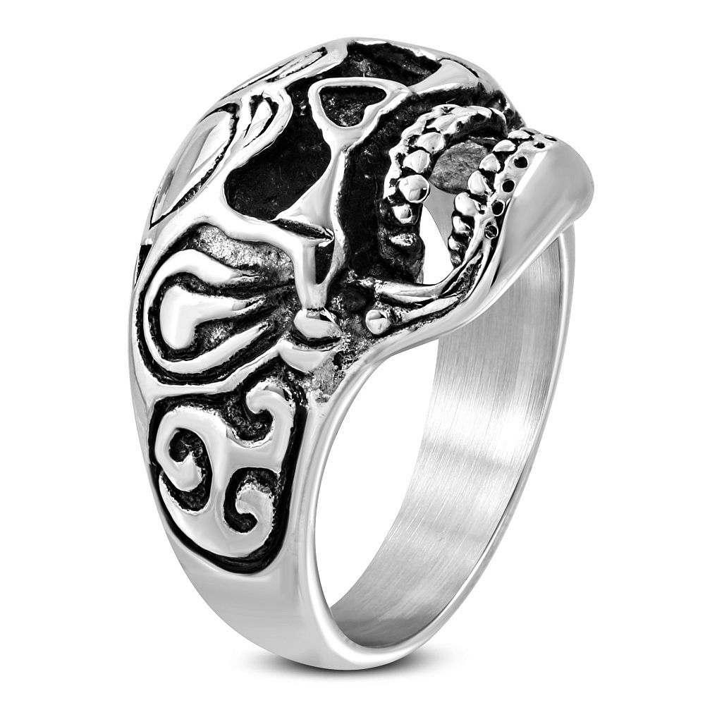 Goth Creepy Skull Ring Stainless Steel Size 9 Unbranded Rings