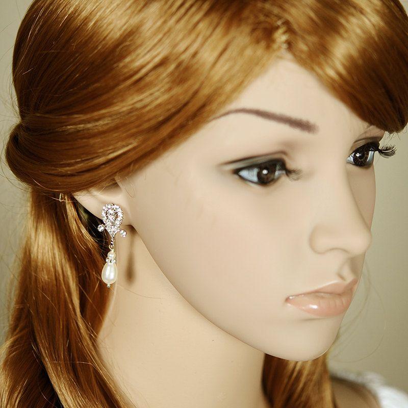 Bridal earrings crystal wedding earrings dangle earrings
