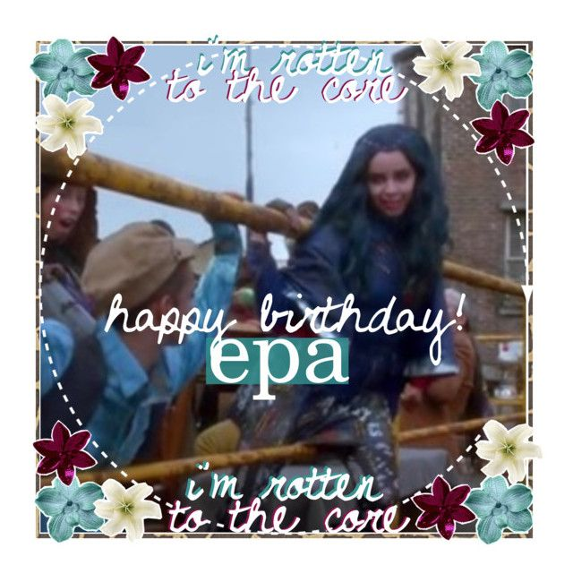 """""""Happy birthday Epa!"""" by evie-queen ❤ liked on Polyvore featuring art and Icongodess"""