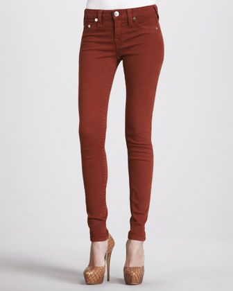 Halle Mahogany Skinny Jeans by True Religion at Neiman Marcus.