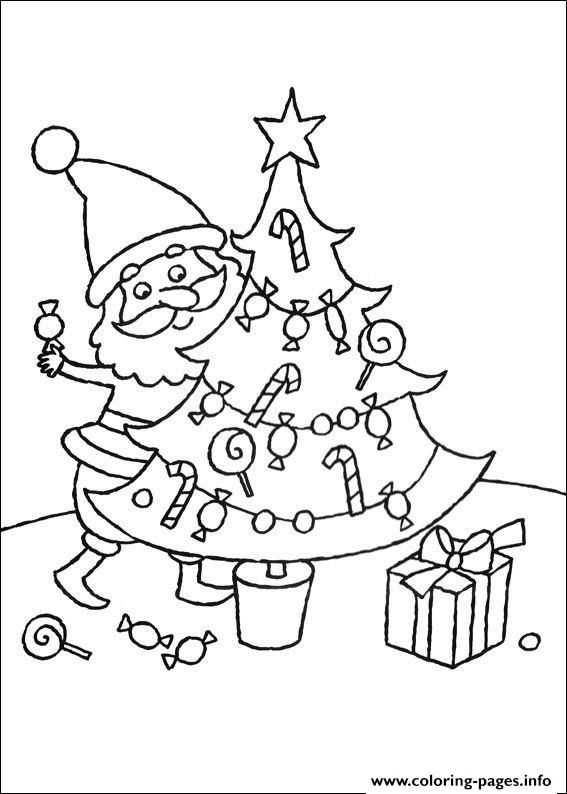 Print tree christmas for kids 03 coloring pages | coloring | Pinterest