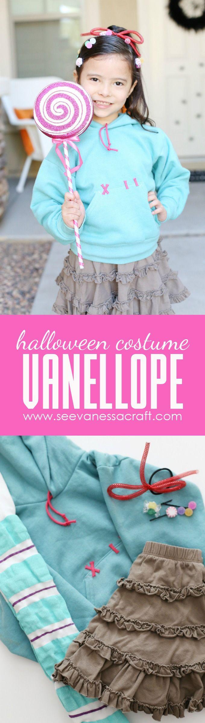 diy vanellope halloween costume from disney wreck it ralph