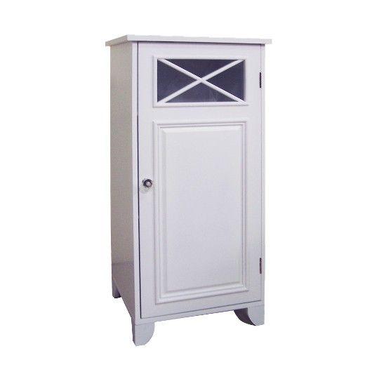 Dawson Floor Cabinet With 1 Door White Elegant Home Fashions Elegant Homes House Styles Bathroom Floor Cabinets