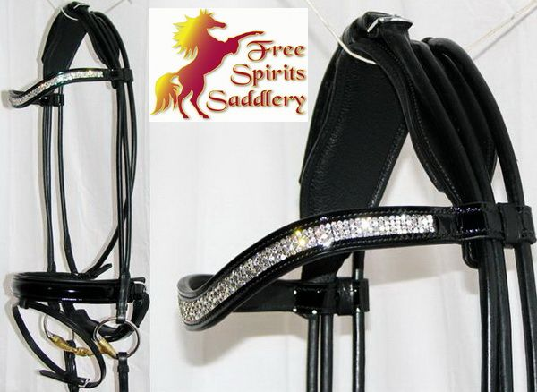 Patent, Rolled, U shaped crystal browband...everything I want in a