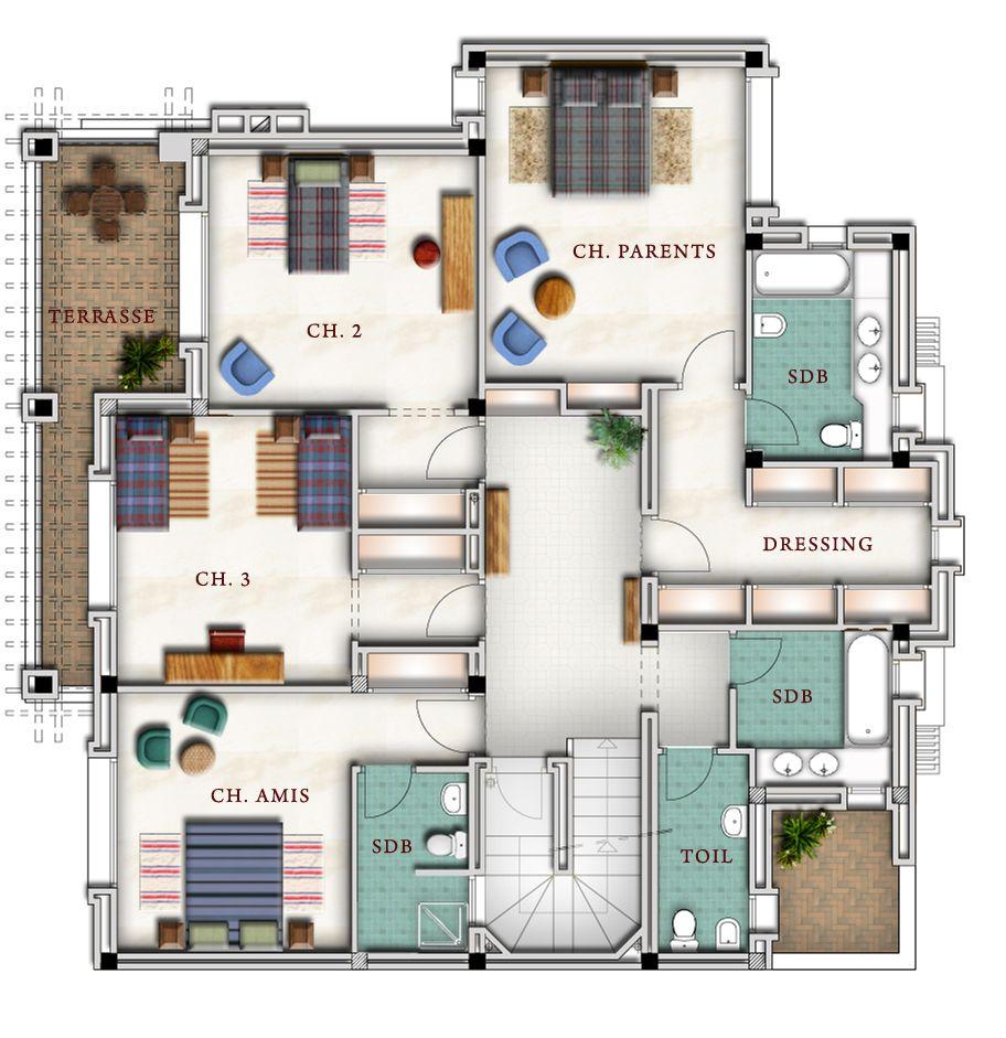 Plan Des Maison Au Maroc House Plans How
