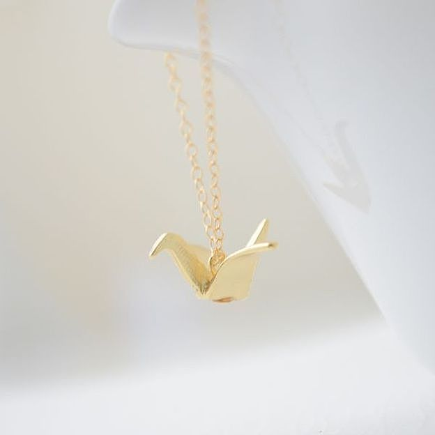 Origami Crane Necklace by Olive Yew