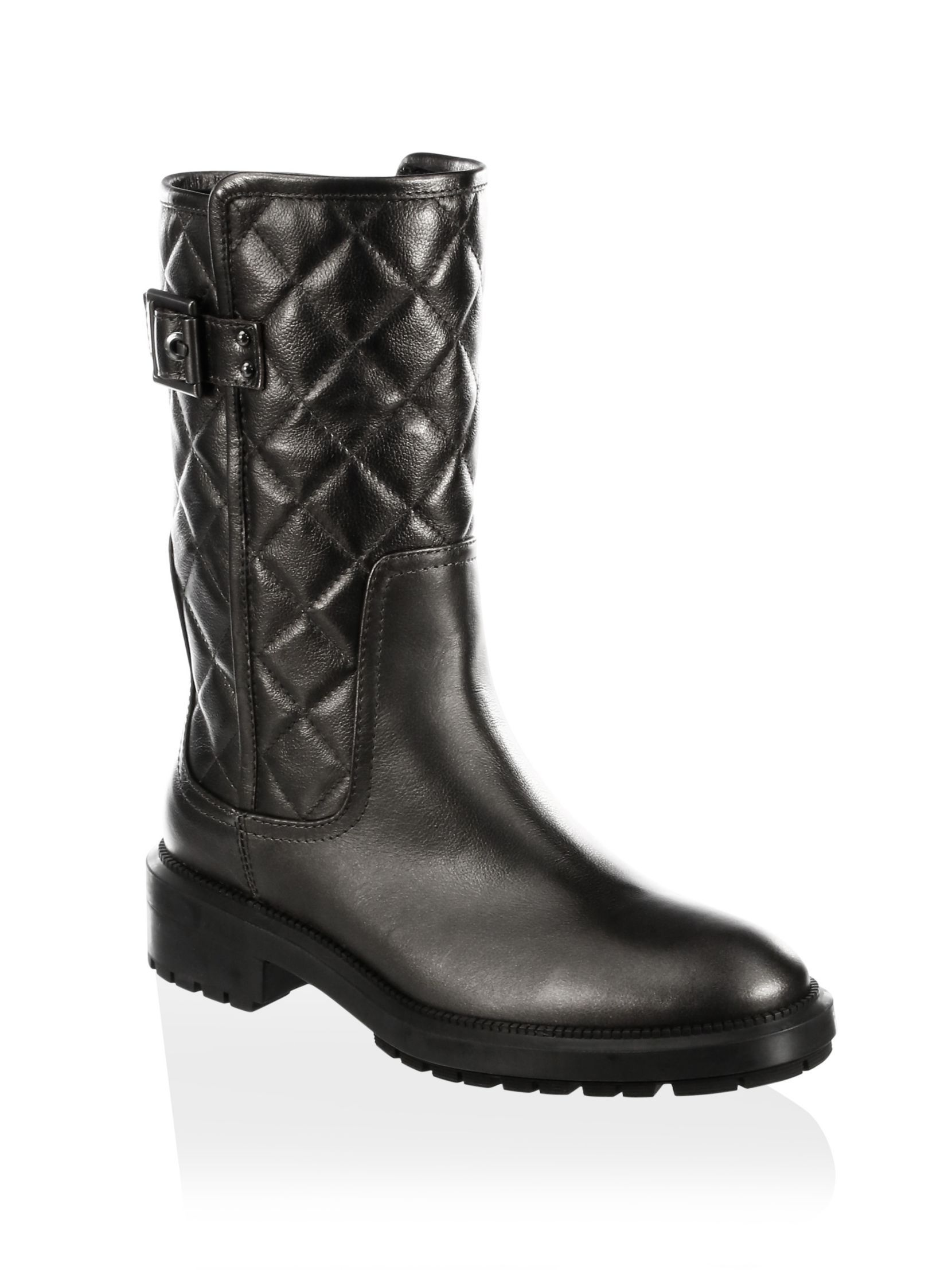 2015 new online low price fee shipping online Aquatalia Quilted Leather Moto Boots gwccnS96Yy