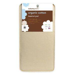 Naturepedic Organic Cotton Bassinet Mattress 13 x 29 - Made in the USA