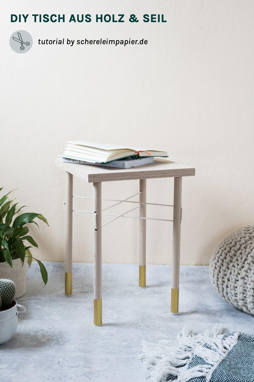 Möbel Selber Bauen | DIY Wohnen | DIY Beistelltisch | DIY Tisch | Tisch  Selber Machen