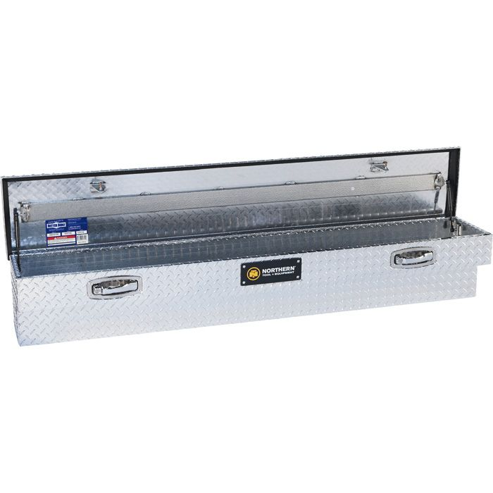Mount Truck Tool Box Aluminum, Diamond Plate, Pull Handle