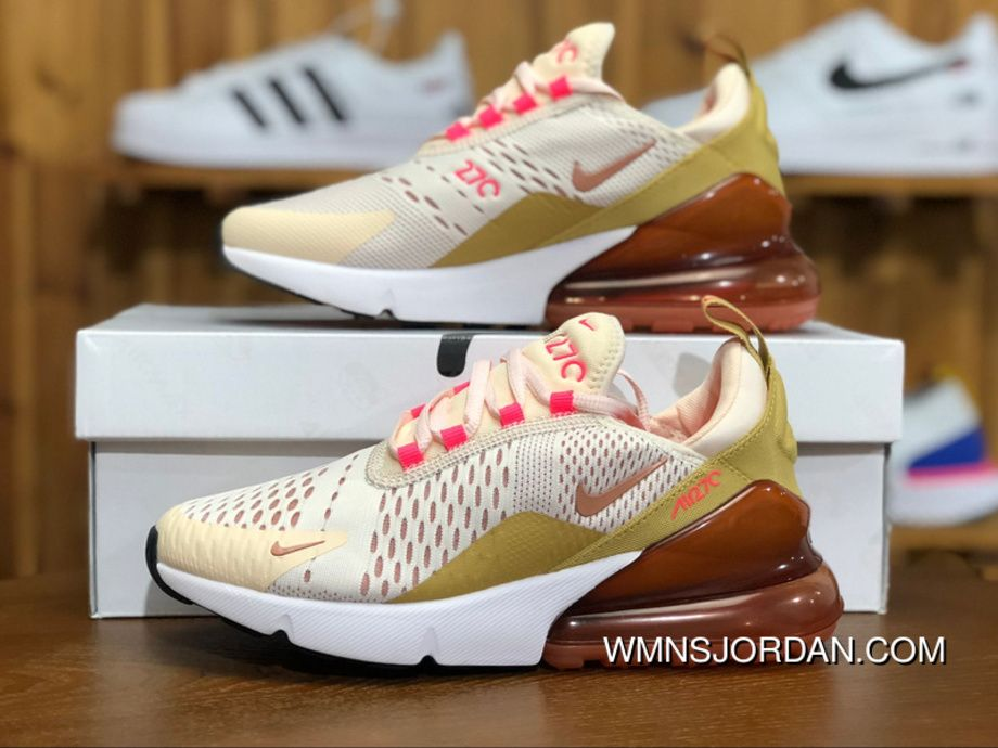 Nike Air Max 270 AH6789 801 Womens Running Shoes GUAVA ICE
