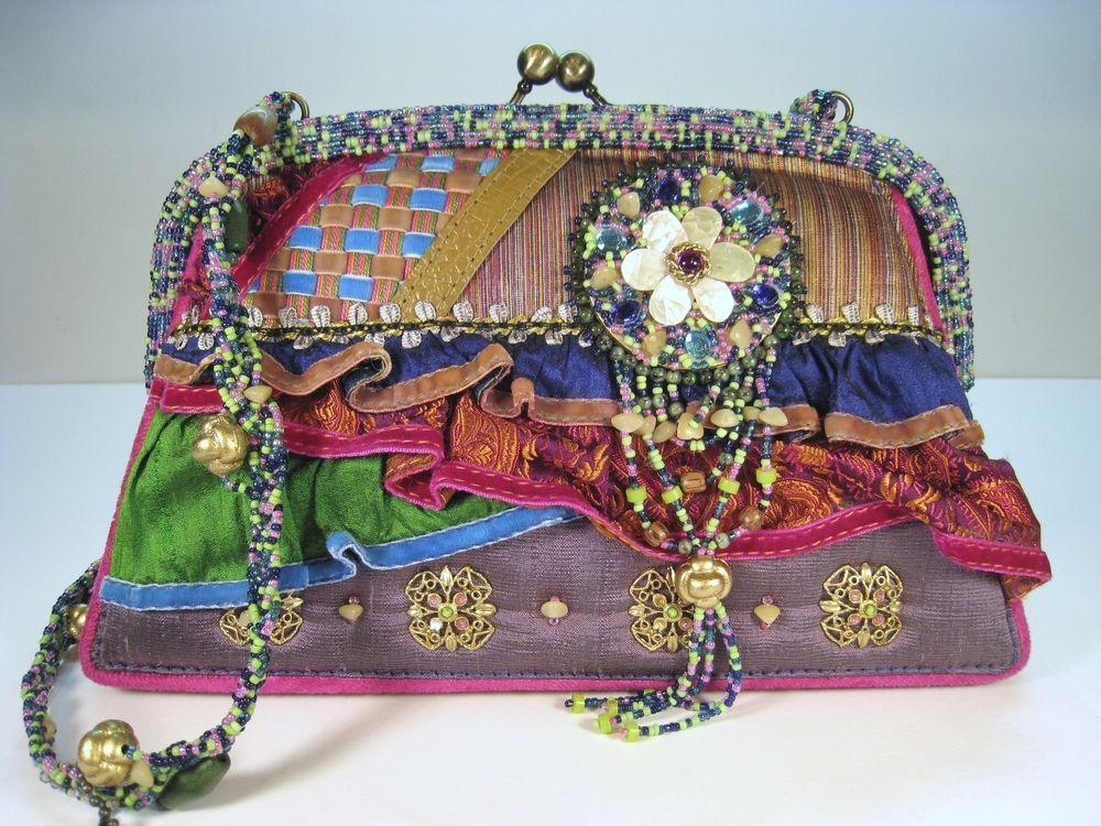 Retired Vintage Mary Frances Shoulder Handbag Purse Maryfrances Shoulderbag