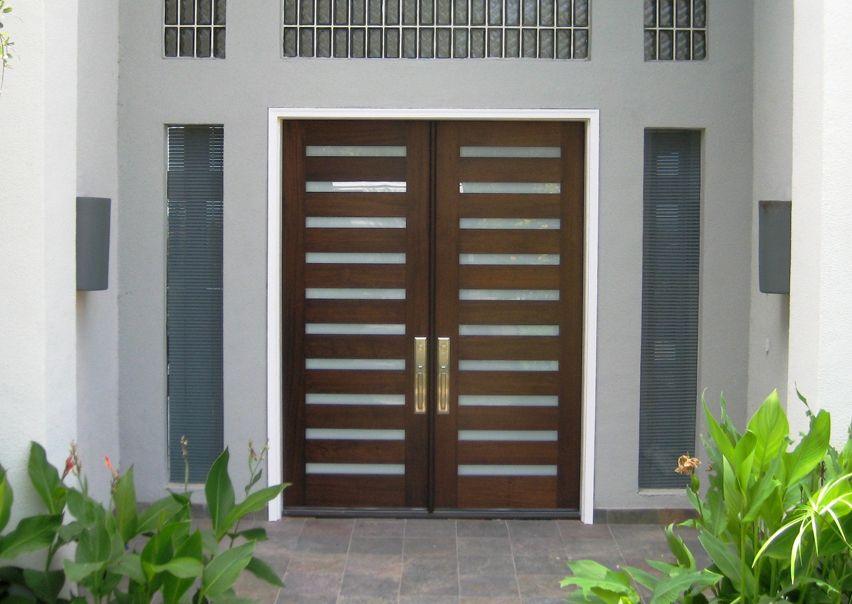 Modern Wood Door: 6\' x 8\' mahogany Luxe 10-lite Entry Door with ...