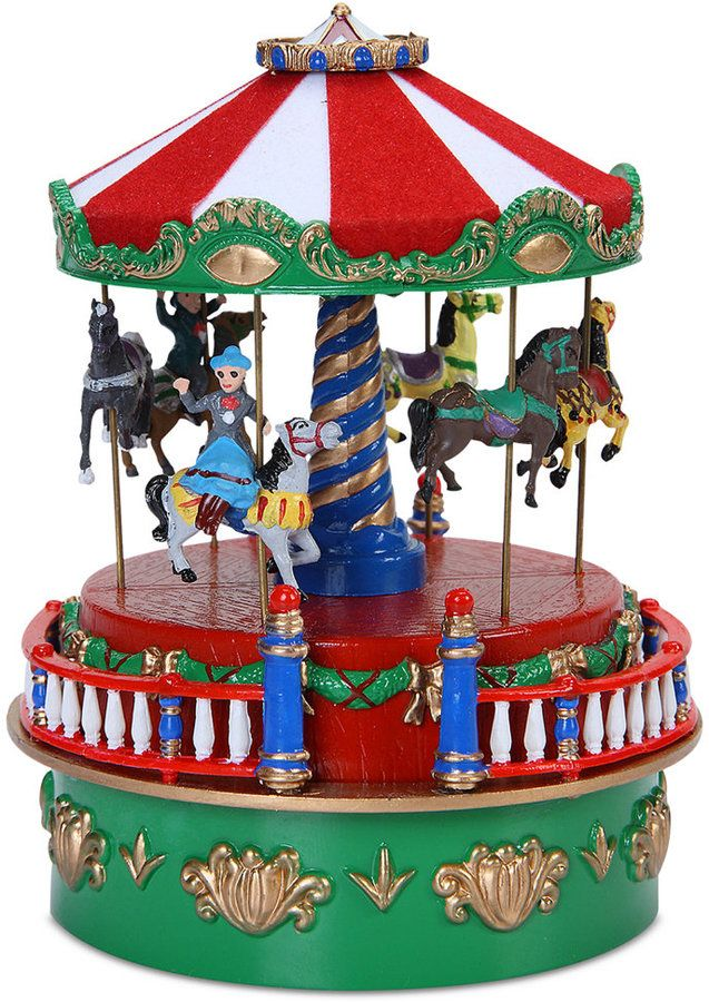 The Mr Christmas Mini Carnival carousel brings the joy of your - christmas carousel decoration