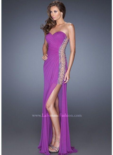 La Femme 19737 Electric Purple Dress