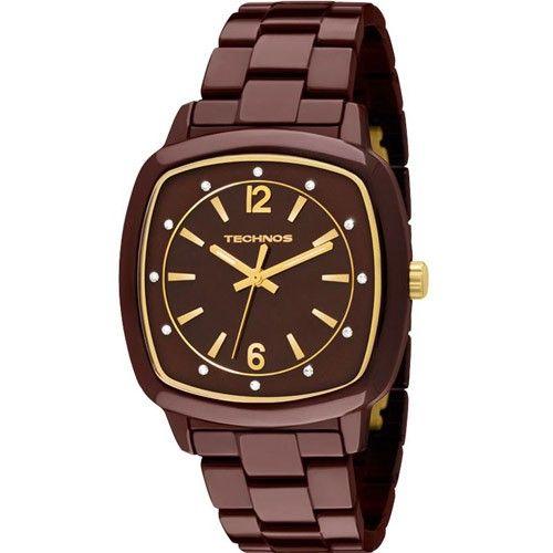 Relógio Technos Feminino Elegance Ceramic 2035DDN 1M   Relógios 8d0a916805