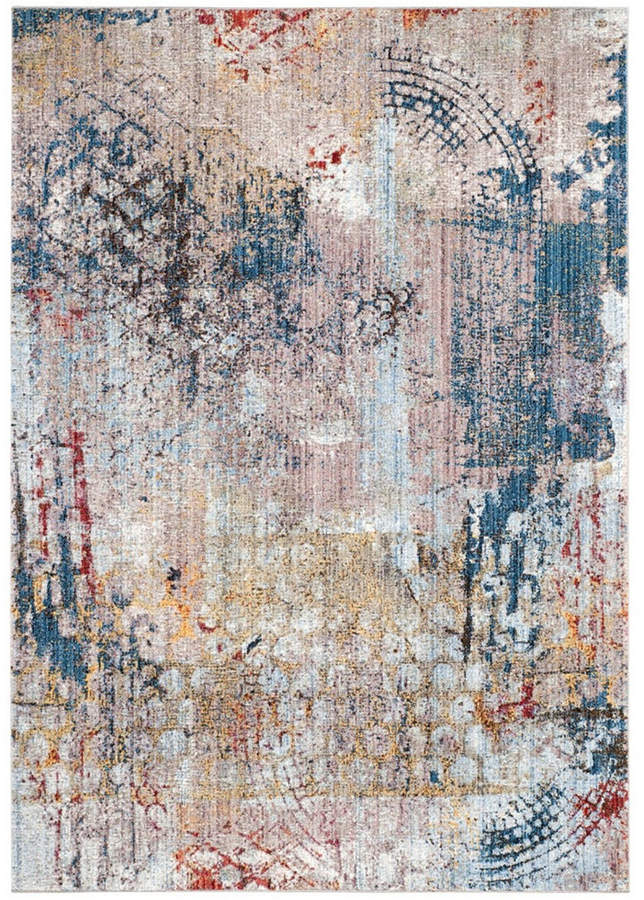 Monray Blue And Multi 4 X 6 Area Rug Distressed In