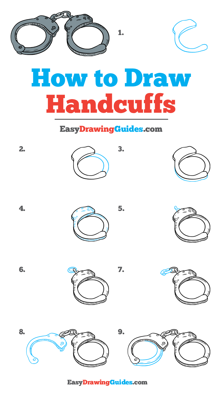 Handcuffs Drawing Easy : handcuffs, drawing, Handcuffs, Really, Drawing, Tutorial, Drawings,, Drawing,, Drawings