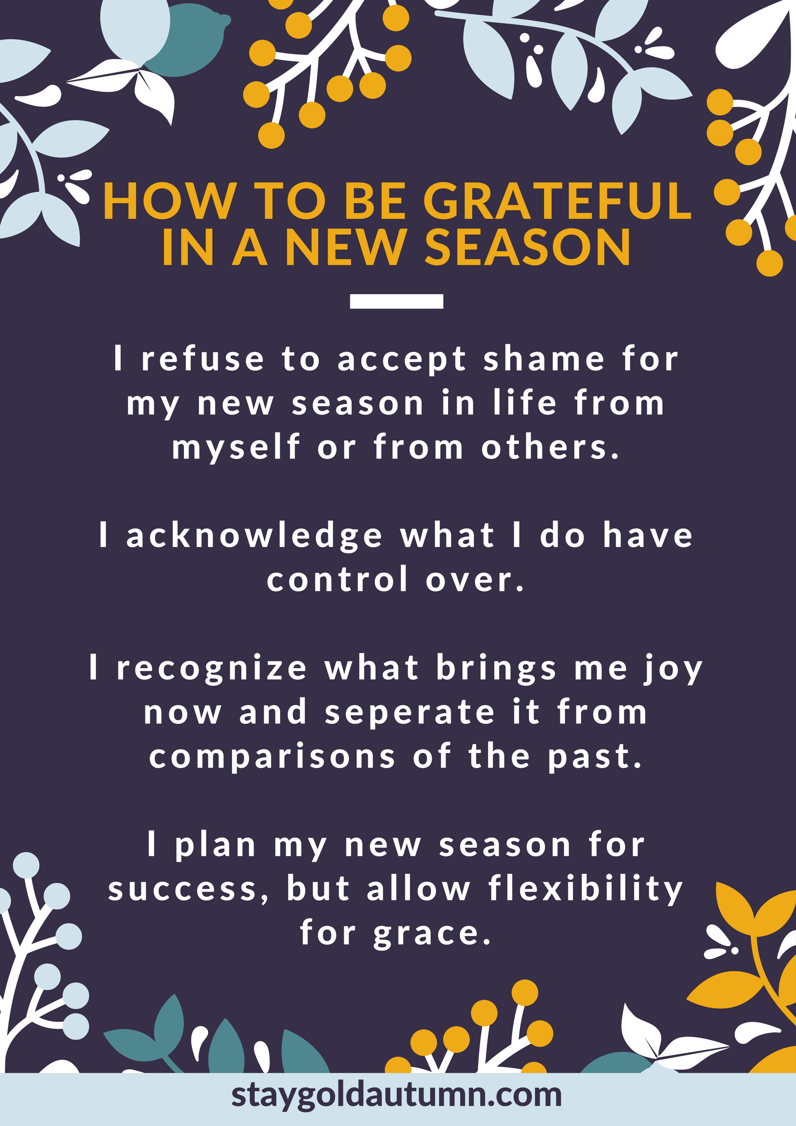 How To Be Grateful In A New Season