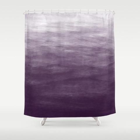 Marvelous Purple Ombre Shower Curtain   Kalilaine Creations   1