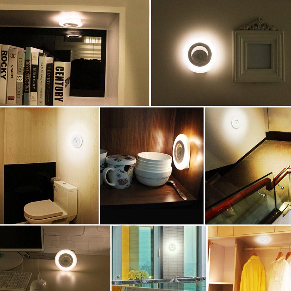 Terrific Wireless Motion Sensor 8 Led Wall Night Light Under Cabinet Download Free Architecture Designs Lukepmadebymaigaardcom