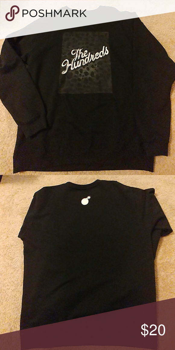 bd1d8ee836 The Hundreds Black sweatshirt Worn once or twice. Great condition The  Hundreds Shirts Sweatshirts   Hoodies