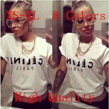 Encontrar Más Camisetas Información acerca de Nuevos 2015 de moda para mujeres 8 colores 100% Cotton Candy color de la camiseta 2015 mujeres Letter Print T shirt Top del, alta calidad Camisetas de Iris iris's Store en Aliexpress.com