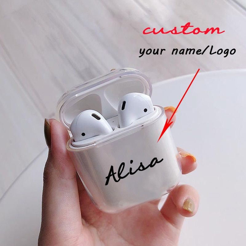 Custom Name Logo Image Soft Silicone Case For Airpods Case For Bluetooth Wireless Airpod Cover Diy Customized Photo Letters Hot Boughtagain Silicon Case Logo Images Name Logo